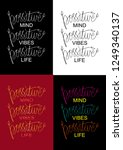 positive mind  positive vibes ...   Shutterstock .eps vector #1249340137