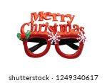 merry chrismas eye glasses... | Shutterstock . vector #1249340617