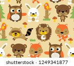 seamless pattern vector with... | Shutterstock .eps vector #1249341877