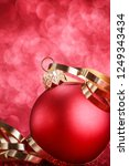 christmas composition of... | Shutterstock . vector #1249343434