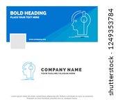 blue business logo template for ... | Shutterstock .eps vector #1249353784