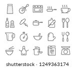 set of cooking icons  such as... | Shutterstock .eps vector #1249363174
