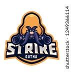 strike e sport logo | Shutterstock .eps vector #1249366114