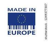 made in europe icon with bar...   Shutterstock .eps vector #1249377307