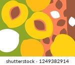 abstract fruit design in flat... | Shutterstock .eps vector #1249382914