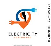 electricity logo template... | Shutterstock .eps vector #1249391584