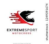 extreme sport motocross logo... | Shutterstock .eps vector #1249391674
