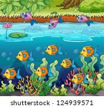 illustration of a school of... | Shutterstock .eps vector #124939571
