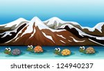 illustration of a group of... | Shutterstock .eps vector #124940237