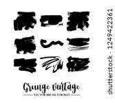 set of black brush stroke and... | Shutterstock .eps vector #1249422361