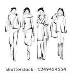 fashion girls sketch. fashion...   Shutterstock .eps vector #1249424554