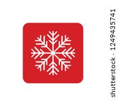 snowflake icon or logo.... | Shutterstock .eps vector #1249435741