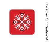 snowflake icon or logo.... | Shutterstock .eps vector #1249435741