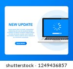 system software update  data... | Shutterstock .eps vector #1249436857