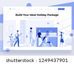 people stay at the reception... | Shutterstock .eps vector #1249437901