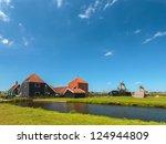 traditional dutch wooden farm... | Shutterstock . vector #124944809