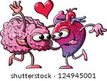 human heart  and brain in a... | Shutterstock . vector #124945001