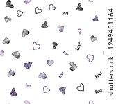 dark purple vector seamless... | Shutterstock .eps vector #1249451164