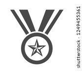 champion medal with star and... | Shutterstock . vector #1249455361