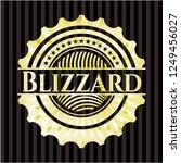 blizzard golden emblem | Shutterstock .eps vector #1249456027