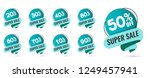 sale tags set vector badges... | Shutterstock .eps vector #1249457941