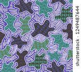 trendy ethnic seamless pattern... | Shutterstock .eps vector #1249487644