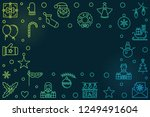 vector merry christmas colorful ... | Shutterstock .eps vector #1249491604