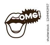 lips saying omg avatar character   Shutterstock .eps vector #1249492957