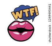 lips saying wtf avatar character | Shutterstock .eps vector #1249495441