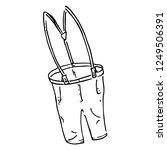 pants with suspenders. vector... | Shutterstock .eps vector #1249506391