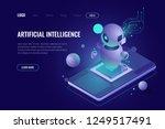 artificial intelligence ai... | Shutterstock .eps vector #1249517491