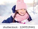 closeup winter portrait of cute ...   Shutterstock . vector #1249519441