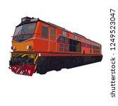 thai diesel locomotive train... | Shutterstock .eps vector #1249523047