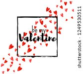 valentines day card with red... | Shutterstock .eps vector #1249530511