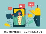 vector illustration  flat style ... | Shutterstock .eps vector #1249531501