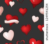 happy valentines day red ... | Shutterstock .eps vector #1249541254