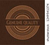 genuine quality retro style... | Shutterstock .eps vector #1249541374