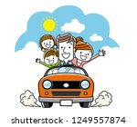 drive with family | Shutterstock .eps vector #1249557874