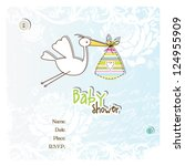 baby shower card | Shutterstock .eps vector #124955909