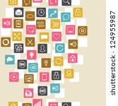 social network background of... | Shutterstock .eps vector #124955987
