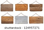 collection of  various wooden... | Shutterstock . vector #124957271