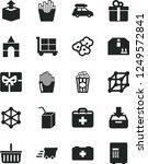 solid black vector icon set  ...   Shutterstock .eps vector #1249572841