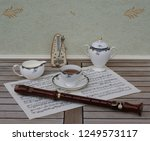 english teacup with saucer ... | Shutterstock . vector #1249573117