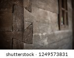 detail of some wood jointing at ... | Shutterstock . vector #1249573831