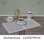 english teacup with saucer ... | Shutterstock . vector #1249574914