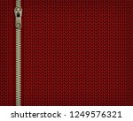 red knitting jersey background... | Shutterstock .eps vector #1249576321
