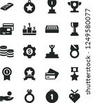solid black vector icon set  ... | Shutterstock .eps vector #1249580077