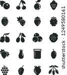 solid black vector icon set  ... | Shutterstock .eps vector #1249580161