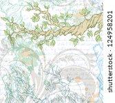 light vintage garden background ...   Shutterstock .eps vector #124958201