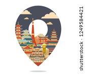 japan travel. japan detailed... | Shutterstock .eps vector #1249584421